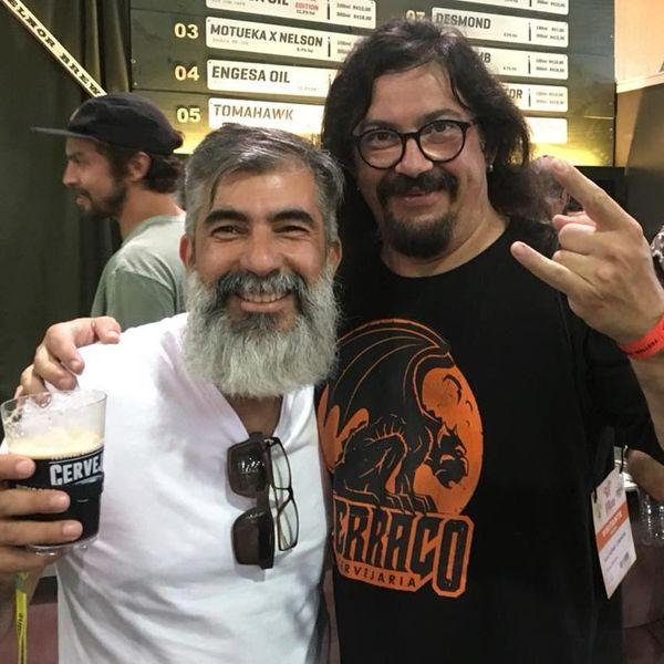Eu e o Guilherme Cominese da Cervejaria Terraço no Festival de Blumenau 2020.