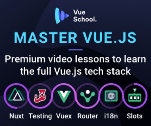 Mastering JS is sponsored by Vue School. Check out their Vue 3 Master Class!