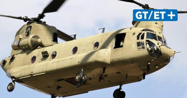 Chinook-Helikopter der US-Armee überfliegen Göttingen am Donnerstag