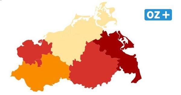 Corona-Inzidenz in MV: Überblick über Städte und Landkreise vom 12.2.21