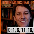 Junior Maths Challenge 2020 Questions 1, 6, 11, 16 and 21