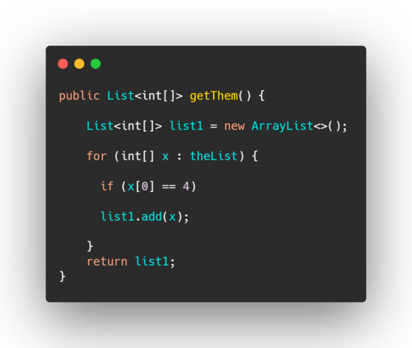 """bad code"" example."
