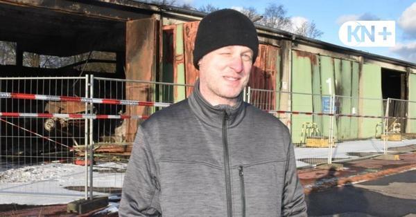 Großfeuer in Lütjenburg: Räumung der Brandstelle kann noch dauern