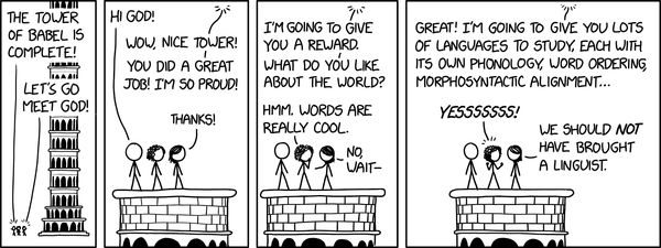 Tower of Babel (Credit: xkcd)