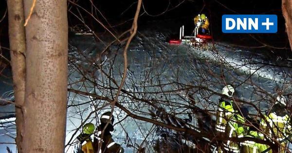 Kiesgrube Leuben Dresden: Vier Personen durch Eis gebrochen