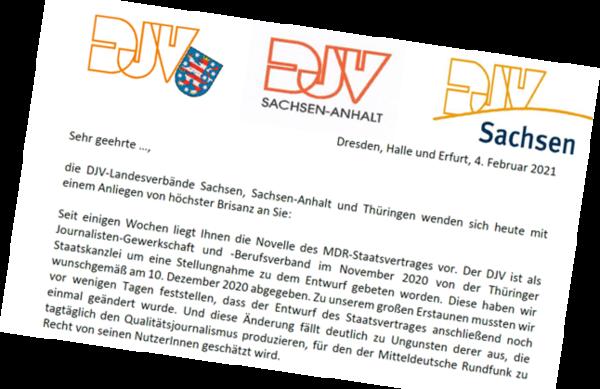 Vereint empört: Der gemeinsame Brief an die Medienpolitiker in den Landtagen.
