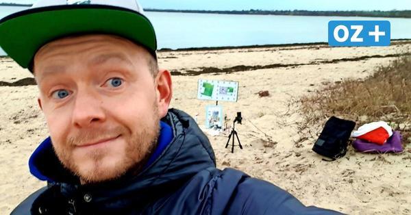 Für eine gute Sache: Ostseefans schicken DJ ins eiskalte Wasser der Wohlenberger Wiek