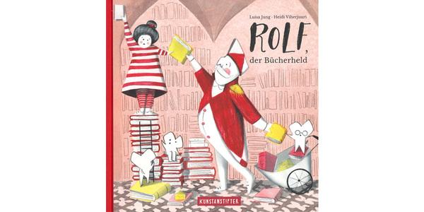 """Das Cover von """"Rolf, der Bücherheld"""", erschienen im Kunstanstifter Verlag"""