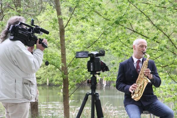 Streaming Havelland begleitete auch den Saxofonisten Matthias Wacker. Foto: Promo