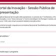 Portal da Inovação - Sessão Pública de Apresentação