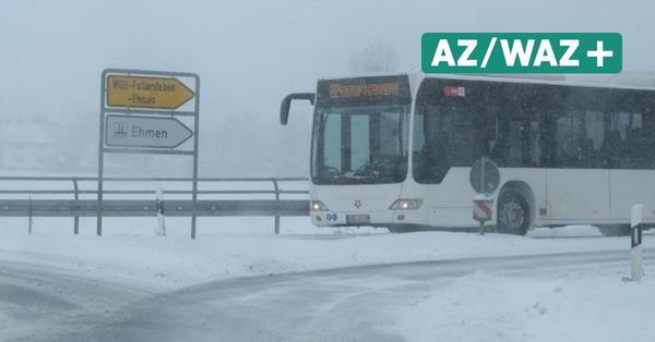 Bus fuhr nicht wegen Schnee: Betriebsrat, VW und WVG arbeiten an Notfallplänen