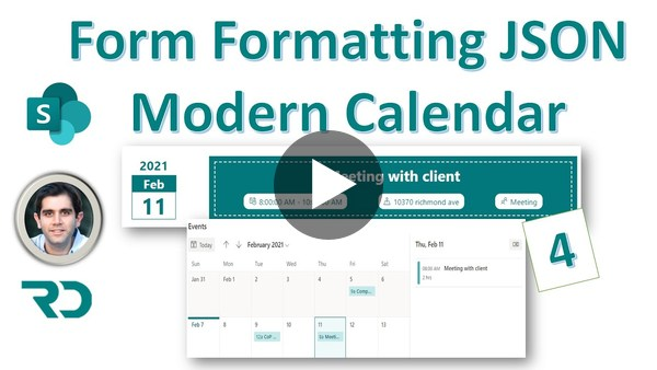 SharePoint Modern Calendar with Form Formatting JSON