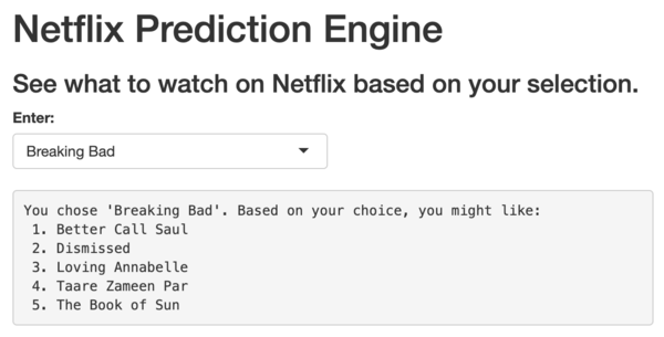 Let R tell you what to watch on Netflix