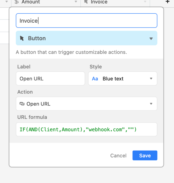 You can put your validation directly in the button field conditions