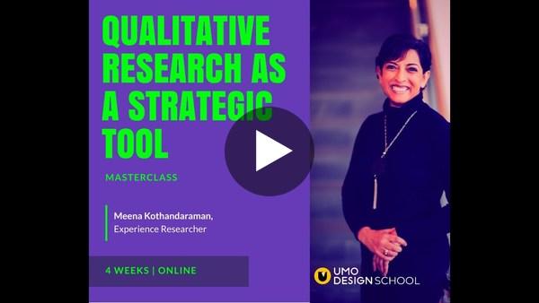 Meena's Live Talk on 'Qualitative Research as a Strategic Tool'