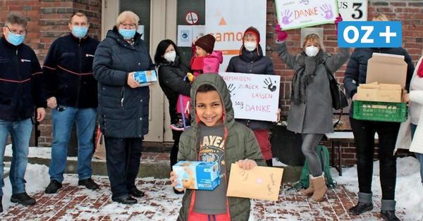 """""""Einfach mal Danke sagen"""": Stralsunder verteilen Briefe und Masken an Flüchtlinge"""