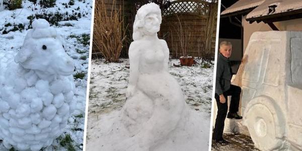 Jetzt abstimmen: Welche Schneefigur ist die schönste in Schleswig-Holstein?