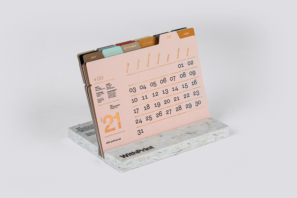 This cute 2021 desk calendar is typeset in CoType's Ambit