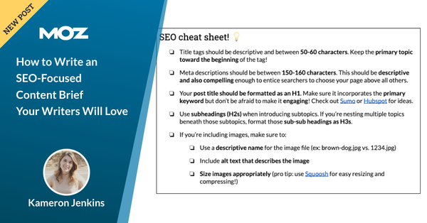 How to Write an SEO-Focused Content Brief Your Writers Will Love - Moz