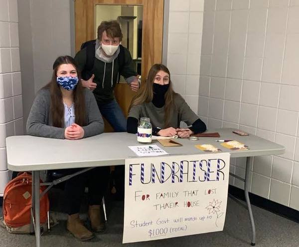 Our College's Student Government Outreach Committee fundraising for the families affected by last week's fire Student Government has pledged to match donations up to $1,000.