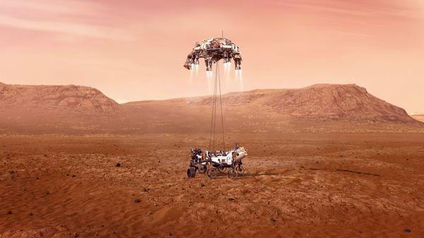 """Historische Mission: Nasa-Rover """"Perseverance"""" auf dem Mars gelandet"""