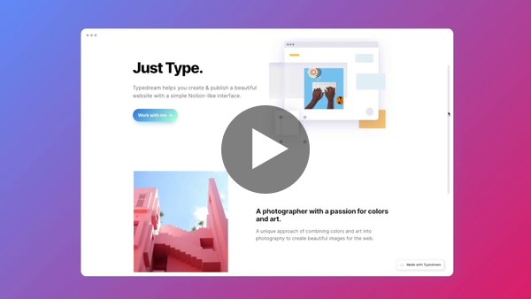Typedream: No-Code Website Builder with Notion-like Interface