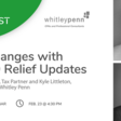 Tax Changes with Relief Updates | Meetup