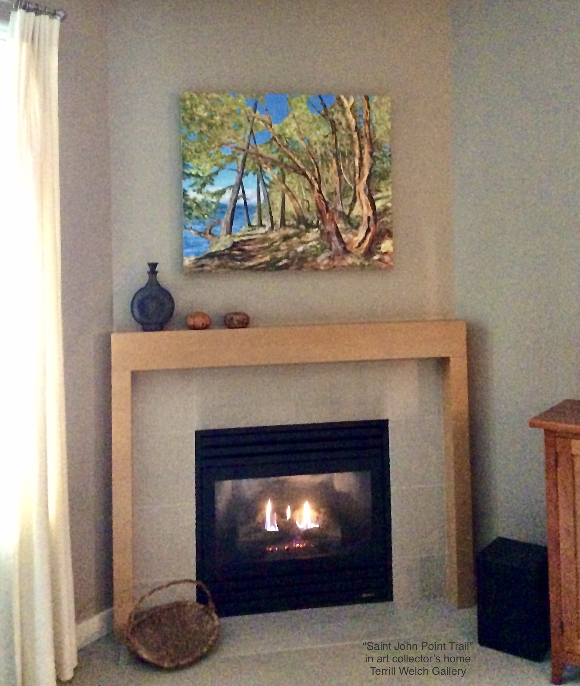 During the late afternoon soft light of winter, a new painting can be good company.