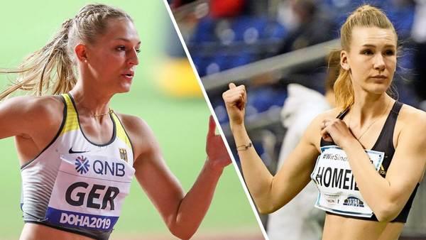 Merle Homeier und Luna Thiel schielen bei den Deutschen Hallenmeisterschaften auf Medaillen - Sportbuzzer.de