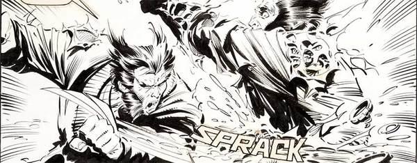 Marc Silvestri - Wolverine Original Comic Art