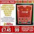 Jurgen Klopp Signed & Framed Liverpool Shirt with FOUR Medals - Football Prizes
