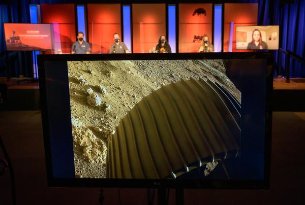 Mars Rover Perseverance's wheel shot (Credit: NASA)