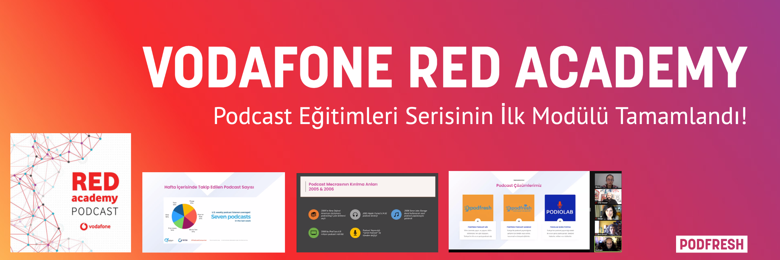 Vodafone Red Academy & Podfresh Podcast Eğitim Serisi