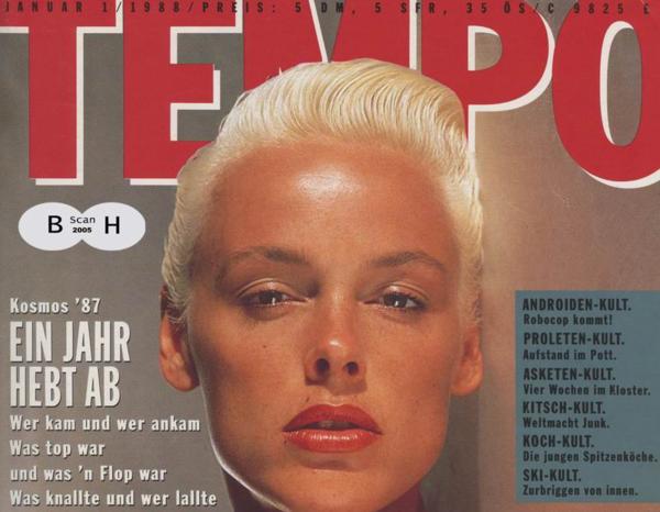 Quand l'actrice Brigitte Nielsen s'affiche à la Une de Tempo