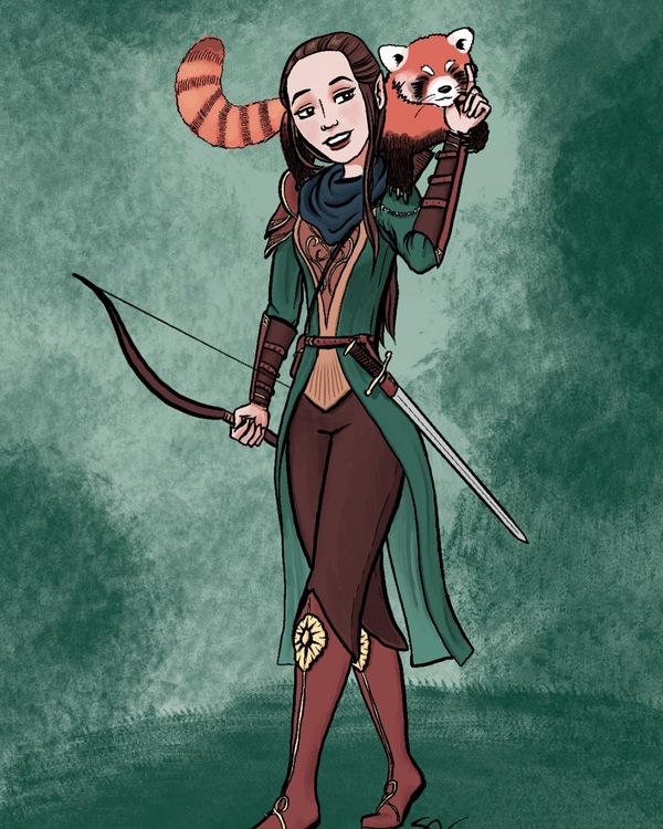 Arwen, elven ranger