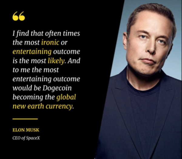 Elon teases that the most entertaining outcome for Dogecoin is most likely