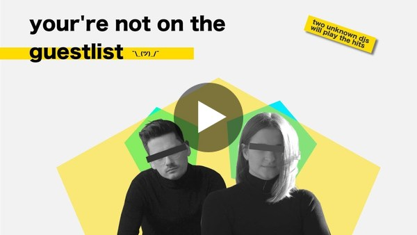 you're not on the guestlist - youtube video