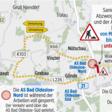 Achtung: Vollsperrung an der Anschlussstelle A 21 Bad Oldesloe Nord
