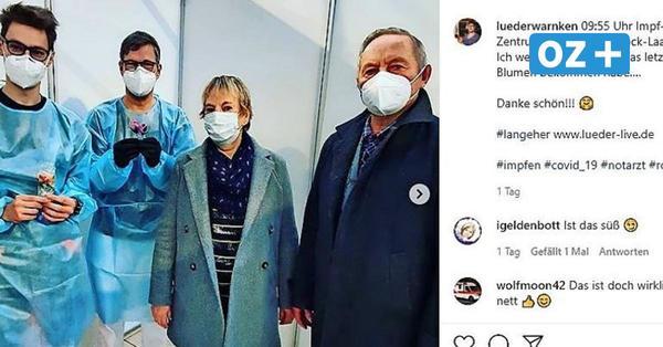 Flughafen Rostock-Laage: Hier impft ein Comedian die Menschen gegen Corona