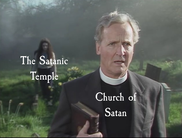 The Satanic Temple sneaking up on you Church of Satan!