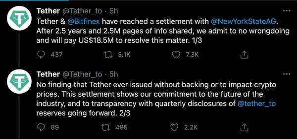 Misleading/Propaganda Tweets from Tether