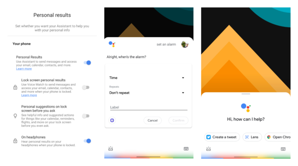 Google Assistant got the Lock Screen Personal Results setting rolled out to more users