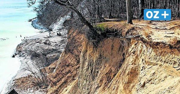 Gewaltiger Hangrutsch: 1000 Kubikmeter Kreidefelsen auf Rügen abgebrochen