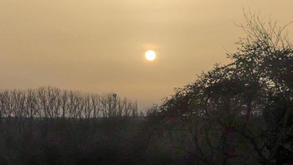 Saharastaub über dem Himmel von Nordwestmecklenburg? (Foto: Helmut Kuzina)
