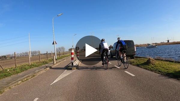GEMEENTE - Met Jerry op de motor over de Ringdijk van de Haarlemmermeer, vanaf de Kaag via Weteringbrug naar Leimuiden. (video)