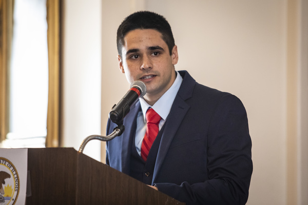 State Rep. Edward Guerra Kodatt, 26, received the appointment Sunday during a meeting of Democratic committeepersons. | Ashlee Rezin Garcia/Sun-Times