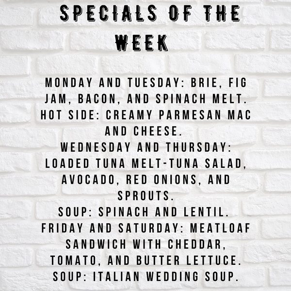 Born and Raised Market Weekly Specials