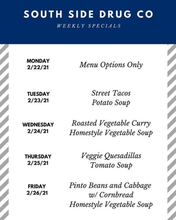 South Side Drug Co. Weekly Specials