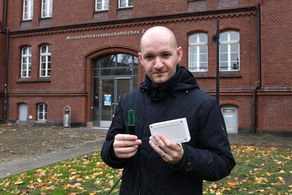 André Nitze lehrt seit dem Wintersemester 2020/21 an der THB. (Foto: Böhme)