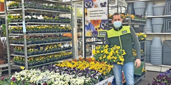 René Kammer, Filialleiter von Pflanzenkölle in Dallgow-Döberitz. Foto: Viktoria Kratz